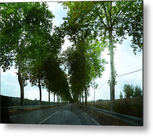 Road Metal Print featuring the photograph Road France by Sandrine Pelissier