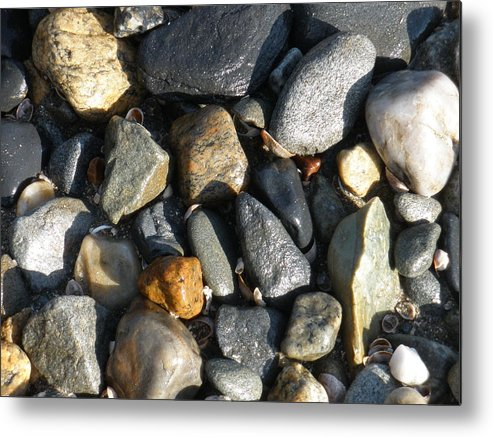 Nature Metal Print featuring the photograph Rocks by Tracy Fusco