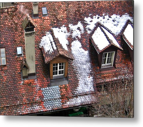 Rooftop Metal Print featuring the photograph Rooftops Of Berne I by David Ritsema