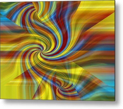 Abstract Photography Metal Print featuring the photograph Rosmerta No.7 by Danny Lally