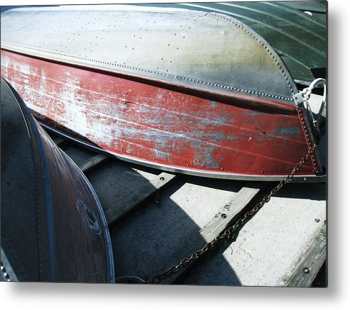 Row Boats Metal Print featuring the photograph Row Baots by Todd Sherlock