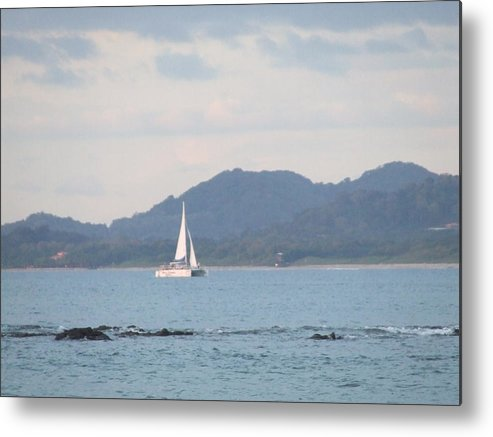 Boat Metal Print featuring the photograph Sail Away by Allison Walker