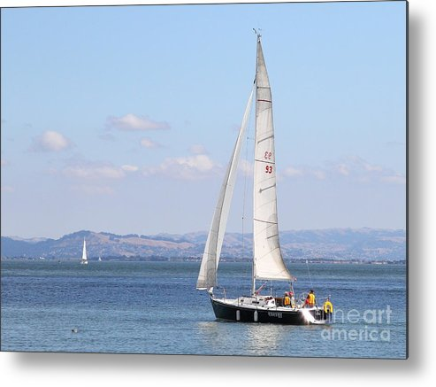 Transportation Metal Print featuring the photograph Sailboat In The San Francisco Bay . 7d7652 by Wingsdomain Art and Photography