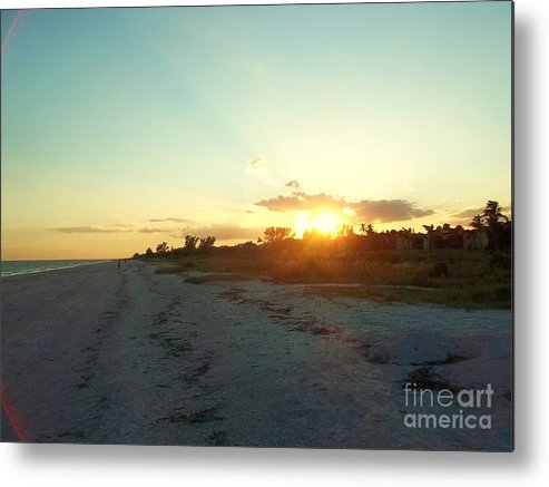 Sunset Metal Print featuring the photograph Sanibel Sunset by Rhonda Lee