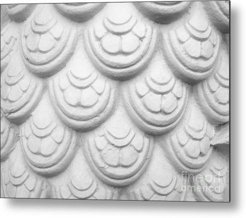 Abstract Metal Print featuring the relief Scale Of Naga Statue by Phalakon Jaisangat