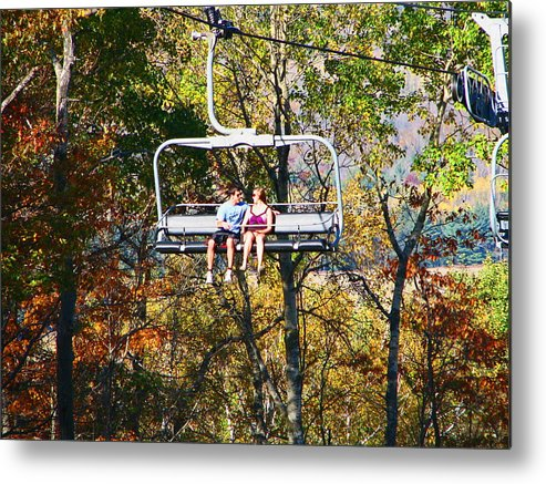 Fall Metal Print featuring the photograph Scenic Ride by Victoria Sheldon