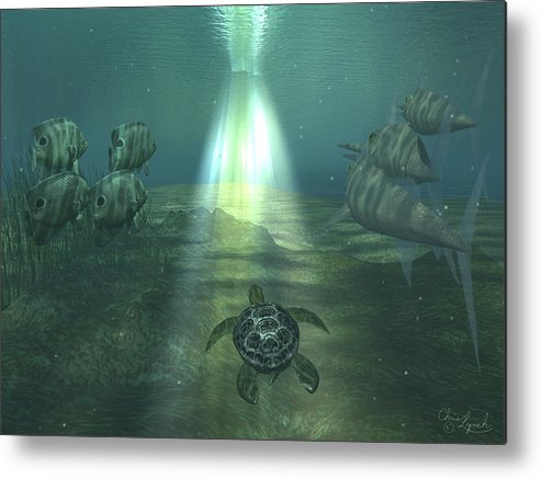 Nature Metal Print featuring the digital art Sealight by Christopher Lynch