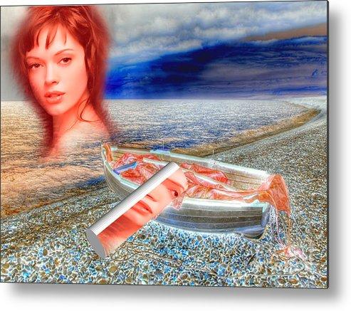 Beach Metal Print featuring the digital art Seasoul by Kamaljitsingh Bhui