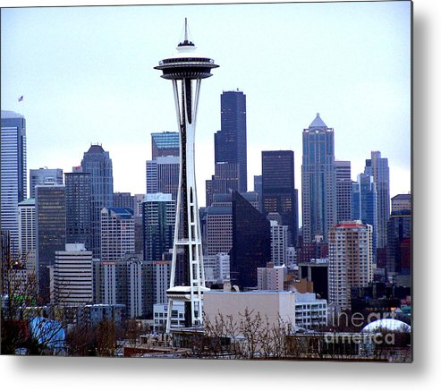 Seattle Metal Print featuring the photograph Seattle Skyline by Kathy White