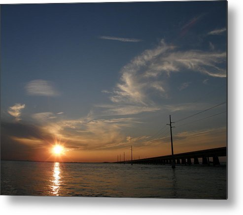 Sunset Metal Print featuring the photograph Seven Mile Bridge Sunset by Kimberly Mohlenhoff