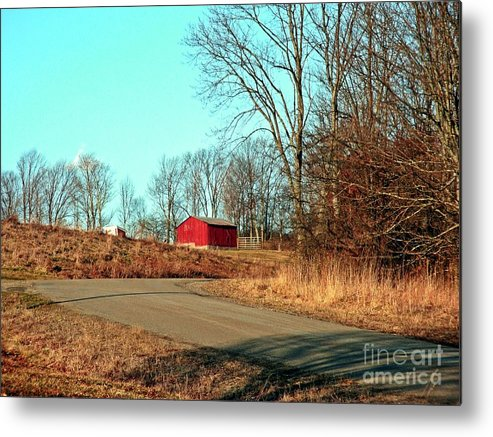 New York Metal Print featuring the photograph Shed Around The Bend by Christian Mattison
