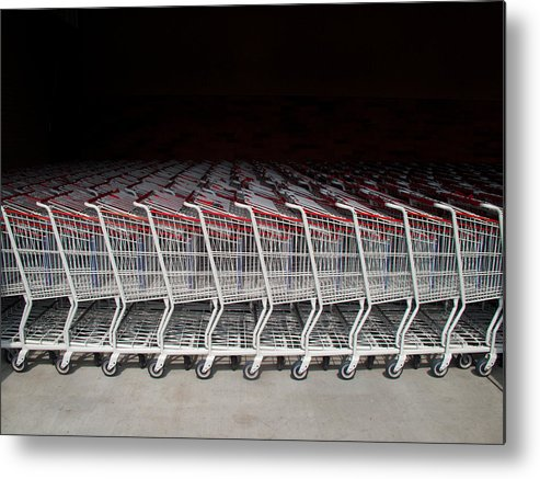 America Metal Print featuring the photograph Shopping Carts by Robert Tolchin