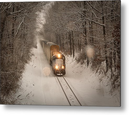 Train Metal Print featuring the photograph Snow Train by Yevette Hendler