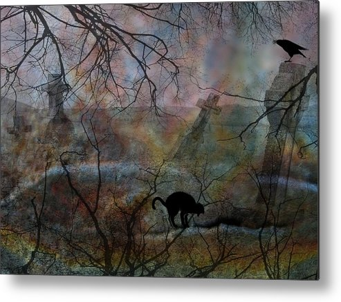 Halloween Metal Print featuring the photograph Still In There by Shirley Sirois