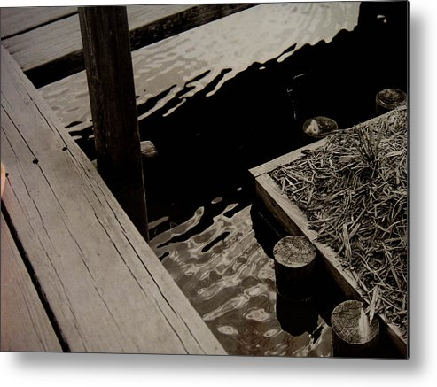 Dock Metal Print featuring the digital art Still Water Reflection by Kendra Steiner