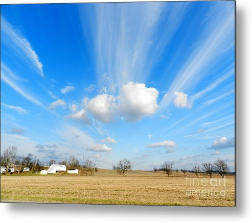 Sky Metal Print featuring the photograph Streaming Sky by Trendle Ellwood