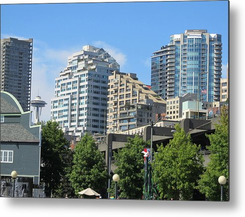 Seatlle Waterfront Metal Print featuring the photograph Structure by Anita Stewart
