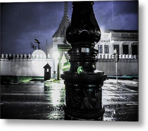 Emotion Photograph Metal Print featuring the photograph Sulky by Orawan Chitram