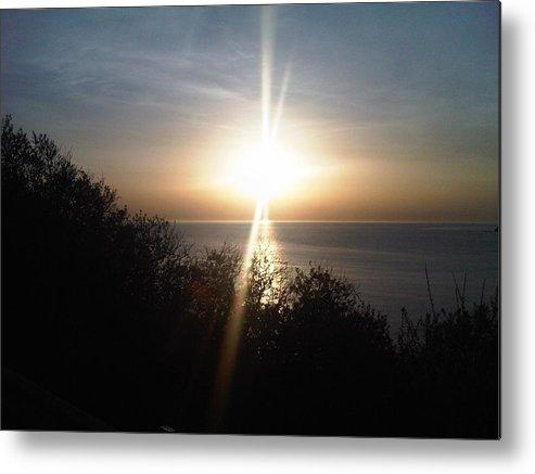Beach Metal Print featuring the photograph Sun Rising Over Alameda Beach by Nimmi Solomon