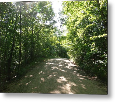 Sun Speckled Dirt Road Metal Print featuring the photograph Sun Speckled Dirt Road by Brian Maloney