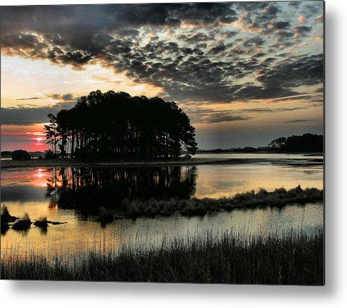 Dawn Metal Print featuring the photograph Sunrise On Assateague by Steven Ainsworth