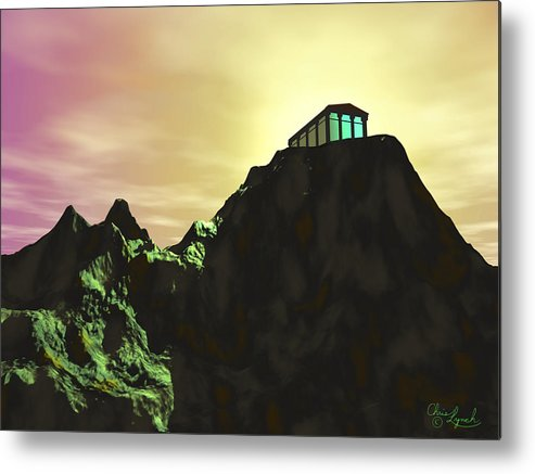 Nature Metal Print featuring the digital art Sunset by Christopher Lynch