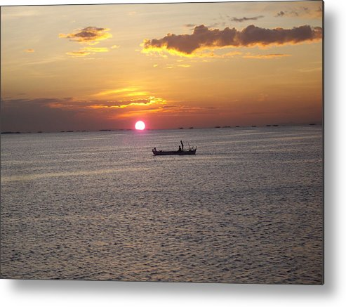 Sunset Boracay Metal Print featuring the photograph Sunset by Cristie Rieland
