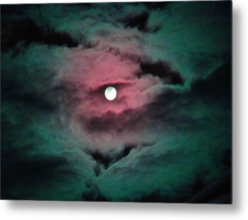 Moon Metal Print featuring the photograph Swim To The Moon by Susan Carella