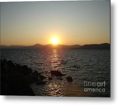 Sunset Metal Print featuring the photograph Tahoe Sunset by Silvie Kendall