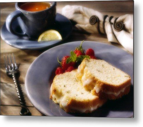 Tea Metal Print featuring the photograph Tea And Cake by Federico Arce