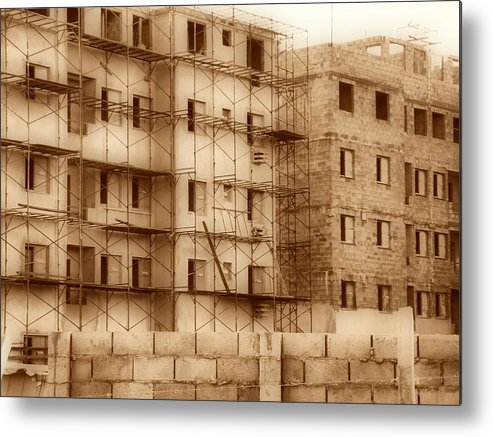Building Metal Print featuring the photograph Terrace by Beto Machado