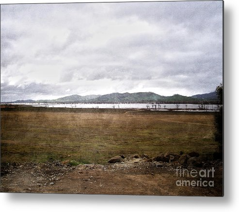 Brown Metal Print featuring the photograph Textured Land by Joanne Kocwin