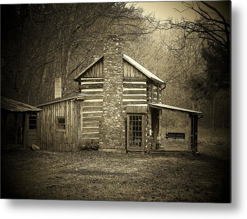 Cabin Metal Print featuring the photograph The Cabin by Michael L Kimble