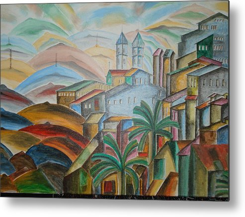 The Trees Metal Print featuring the mixed media The Dream City by Prasenjit Dhar