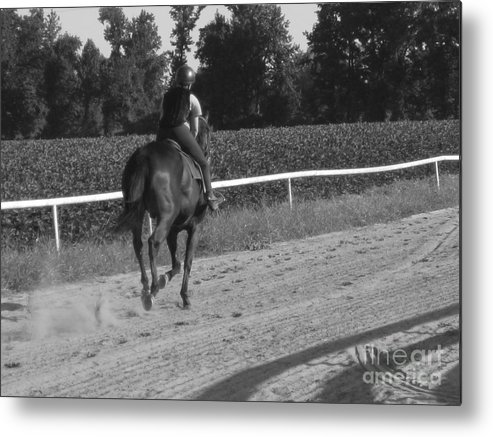 Equestrian Metal Print featuring the photograph The Equestrian Trainer by Jennifer Sabir