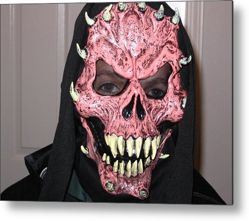 Halloween Metal Print featuring the photograph The Mask by Horst Duesterwald