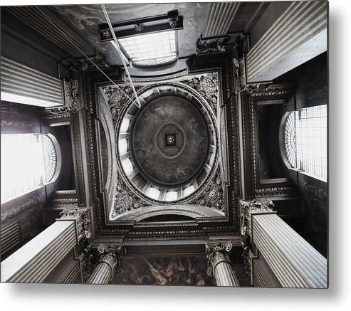 Architecture Metal Print featuring the photograph The Painted Hall by Anna Villarreal Garbis