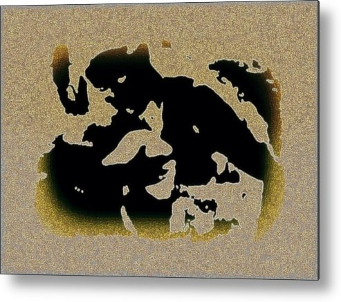 Abstract Metal Print featuring the mixed media The Parting by YoMamaBird Rhonda