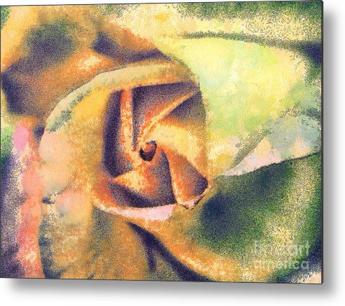 Odon Metal Print featuring the painting The Rose by Odon Czintos