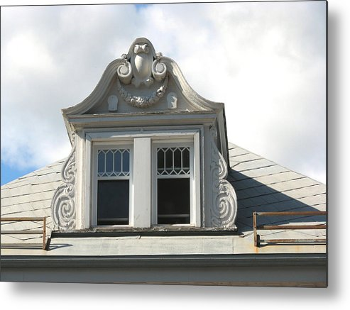 Quebec Metal Print featuring the photograph The Window Quebec City by Mary Ellen Mueller Legault