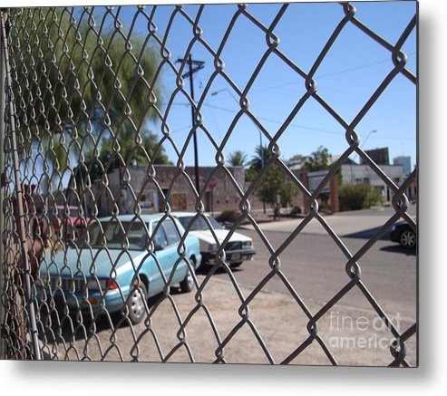 Cars Metal Print featuring the photograph This Cage Of Mine by Stephanie Peters