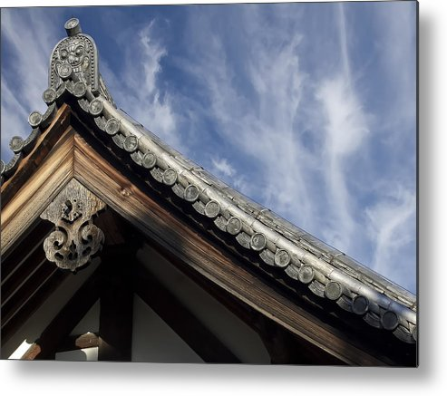 Japan Metal Print featuring the photograph Toshodai-ji Temple Roof Gargoyle - Nara Japan by Daniel Hagerman