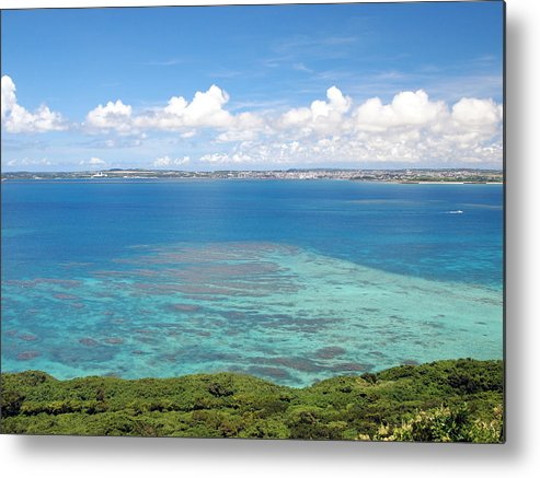 Horizontal Metal Print featuring the photograph Turquoise Blue Ocean by Takau99