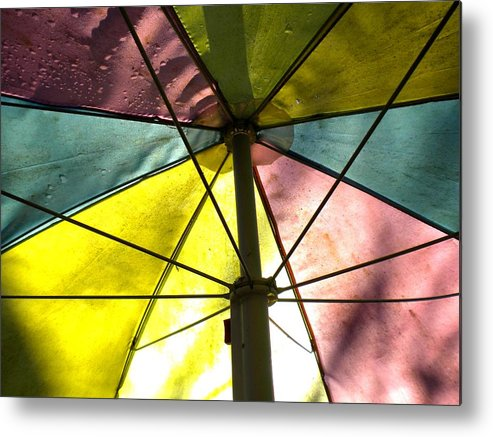 Umbrella Metal Print featuring the photograph Under The Umbrella by Renate Nadi Wesley