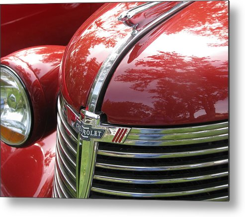 Red Metal Print featuring the photograph Vintage by Penny Anast