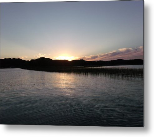 Candle Yellow Metal Print featuring the photograph Warm Sunshine Lake by Brian Maloney