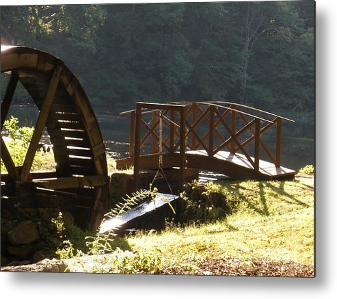 Metal Print featuring the photograph Waterwheel by Tracy Fusco