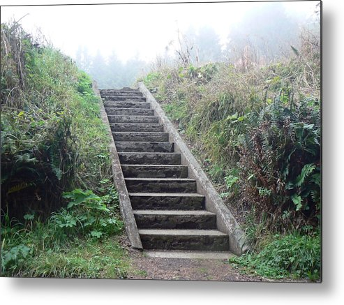 Stairs Metal Print featuring the photograph Way Of The Lightkeeper by Pamela Patch