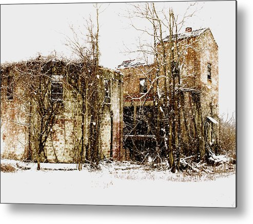 Winter Metal Print featuring the photograph We Watched Them Wash Away by Brandon Wunder