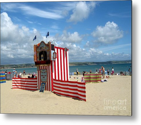 Weymouth Metal Print featuring the photograph Weymouth Punch And Judy 3 by Lesley Giles